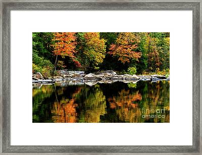 Autumn Middlle Fork River Framed Print by Thomas R Fletcher