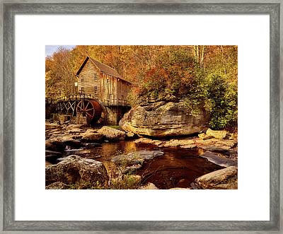 Autumn Mill Framed Print by L O C