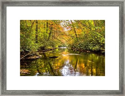 Autumn Mirror Framed Print by Debra and Dave Vanderlaan