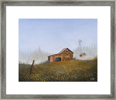 Autumn Mist Framed Print by C Steele