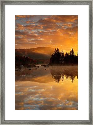 Framed Print featuring the photograph Autumn Mist by Mike Lang
