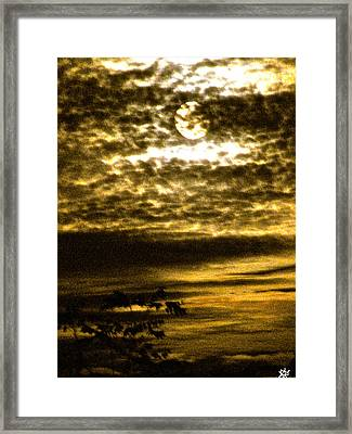 Autumn Moon Framed Print by Debra     Vatalaro