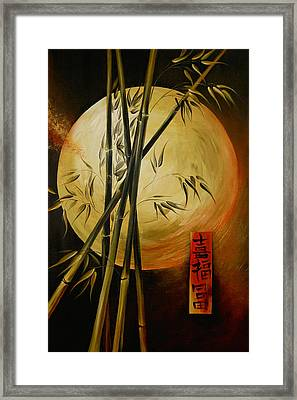 Framed Print featuring the painting Autumn Moon by Dina Dargo