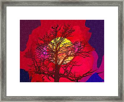 Autumn Moon Framed Print by Mitchell Gibson
