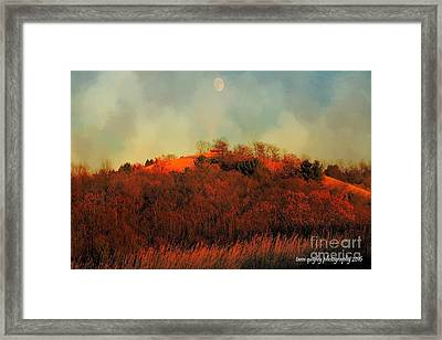 Autumn Moonrise Framed Print
