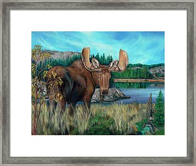 Autumn Moose Framed Print