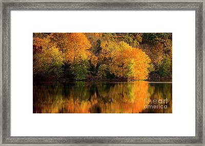 Autumn Morning At The Lake Framed Print