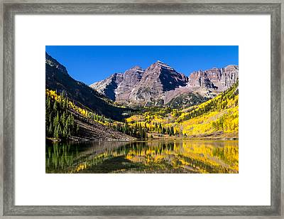 Autumn Morning At The Maroon Bells Framed Print by Teri Virbickis