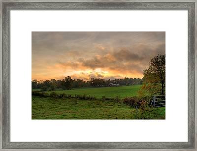 Autumn Morning Framed Print by David Bishop