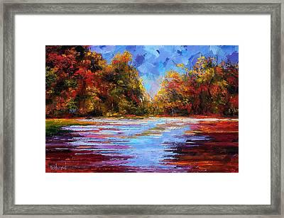 Autumn Morning Framed Print by Debra Hurd