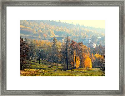 Autumn Morning Framed Print by Henryk Gorecki
