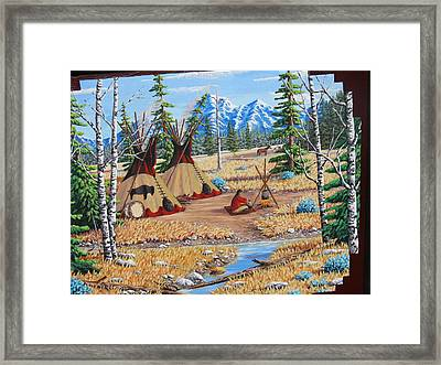 Autumn Morning Framed Print by Billie Bowles