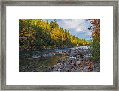 Autumn Morning Light On The Snoqualmie Framed Print