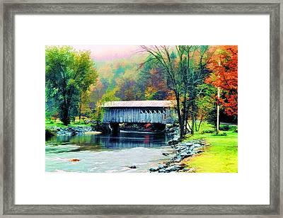 Autumn Morning Mist 2 Framed Print by Dan Dooley