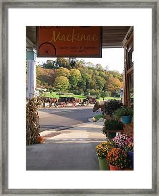 Autumn Morning On Mackinac Island Framed Print