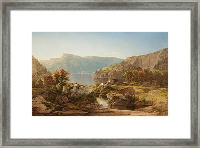 Autumn Morning On The Potomac Framed Print by William Sonntag