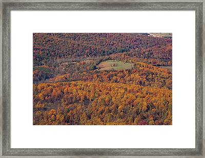 Autumn Mountain Side Framed Print