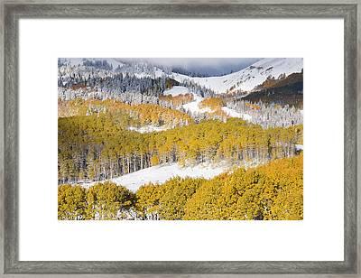 Autumn Mountain Side Framed Print by Leland D Howard