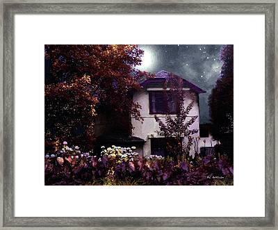 Autumn Night In The Country Framed Print