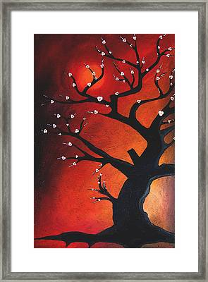 Autumn Nights - Abstract Tree Art By Fidostudio Framed Print by Tom Fedro - Fidostudio