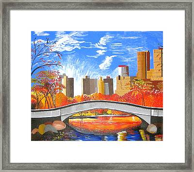 Autumn Oasis Framed Print by Donna Blossom