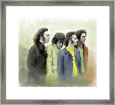 Autumn Of 68 The Beatles Framed Print by Iconic Images Art Gallery David Pucciarelli