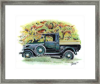 Autumn Of Life Framed Print by Ferrel Cordle