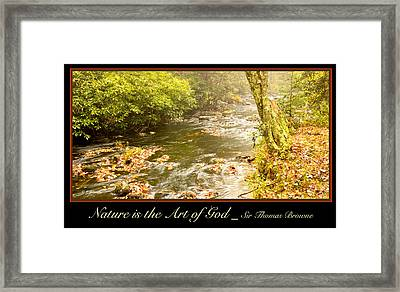 Autumn On A Mountain Stream Framed Print by A Gurmankin
