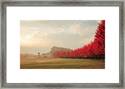 Autumn On Art Hill Framed Print