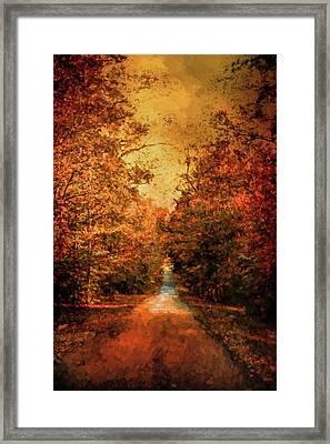 Autumn On Calvary Road Landscape Art Framed Print by Jai Johnson