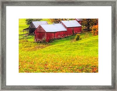 Autumn On Jenne Farm Framed Print