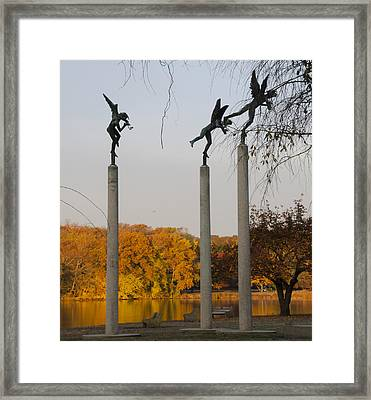 Autumn On Kelly Drive - 3 Angels Framed Print