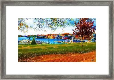 Autumn On Lake Charlevoix Framed Print