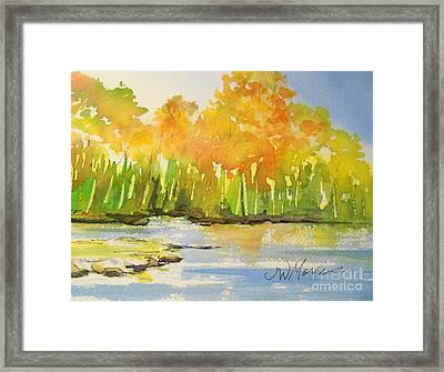 Autumn On Lake Lanier Framed Print