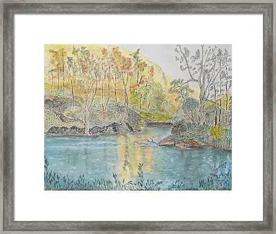 Autumn On The Ausable River Framed Print