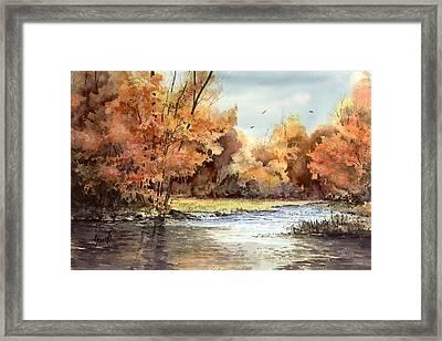 Autumn On The Buffalo Framed Print by Sam Sidders