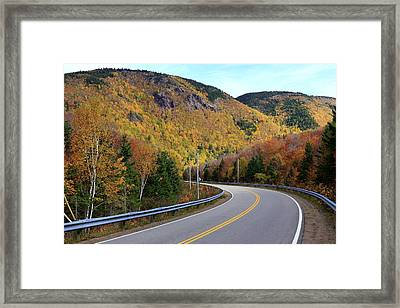 Autumn On The Cabot Trail, Cape Breton, Canada Framed Print