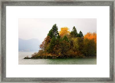 Framed Print featuring the photograph Autumn On The Columbia by Albert Seger
