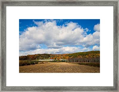 Autumn On The Farm Framed Print by Karol Livote