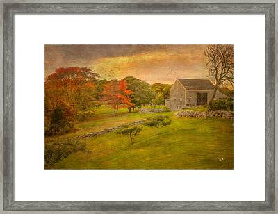 Autumn On The Farm Framed Print by Michael Petrizzo