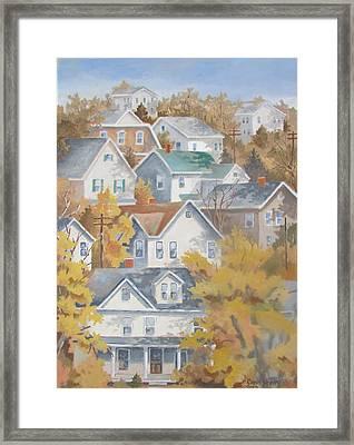 Autumn On The Hill Framed Print