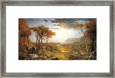 Autumn On The Hudson River  Framed Print by Celestial Images