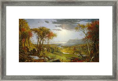 Autumn On The Hudson River  Framed Print by MotionAge Designs