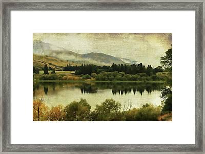 Autumn On The Lake Framed Print by Margaret Hormann Bfa