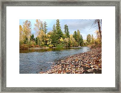 Autumn On The Molalla Framed Print