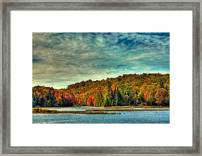 Autumn On The Moose River In Thendara Framed Print by David Patterson