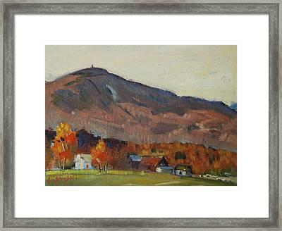 Autumn On The Mountain Framed Print by Len Stomski