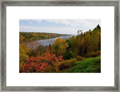 Autumn On The Penobscot Framed Print by Brent L Ander