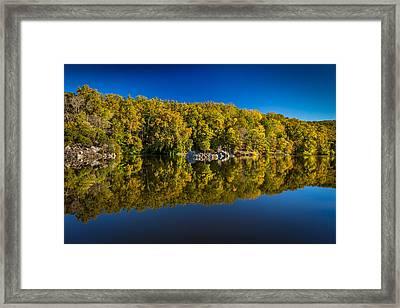 Autumn On The Potomac Framed Print by Robert Davis