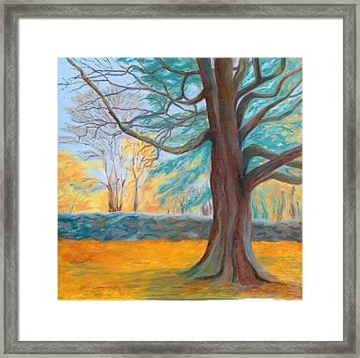 Autumn On The Preserve Framed Print by Paula Emery